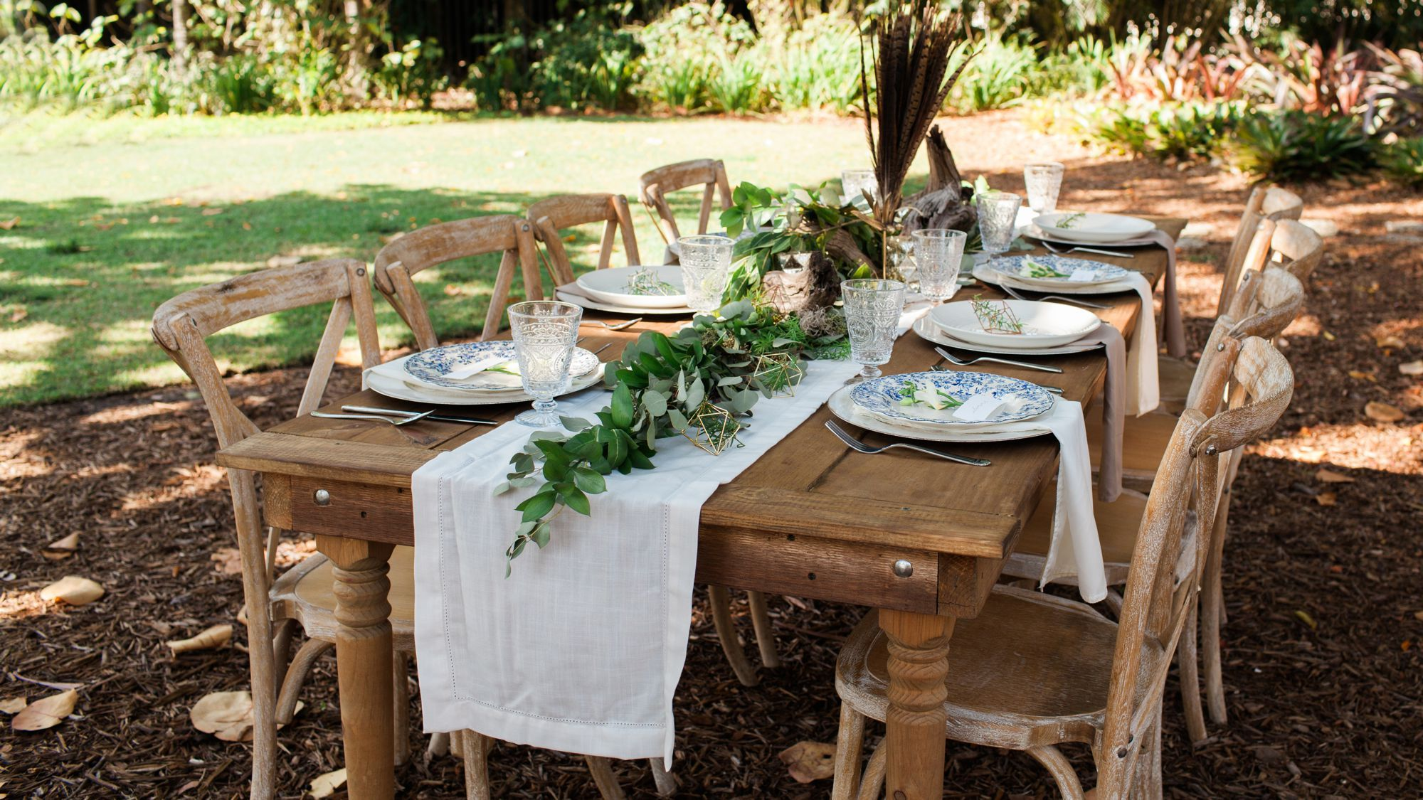 Our beautiful table setting for a boho/vintage wedding photo shoot