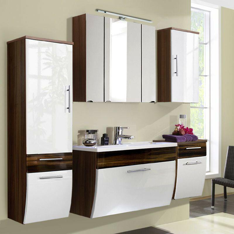 Details Zu Komplett Badezimmermobel Set Weiss 90cm Waschtisch Led Spiegelschrank Badmobel In 2020 Waschtisch Badezimmermobel Set Spiegelschrank