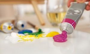 Groupon Paint Night Entry For One Or Two Adults Or Kids Paint