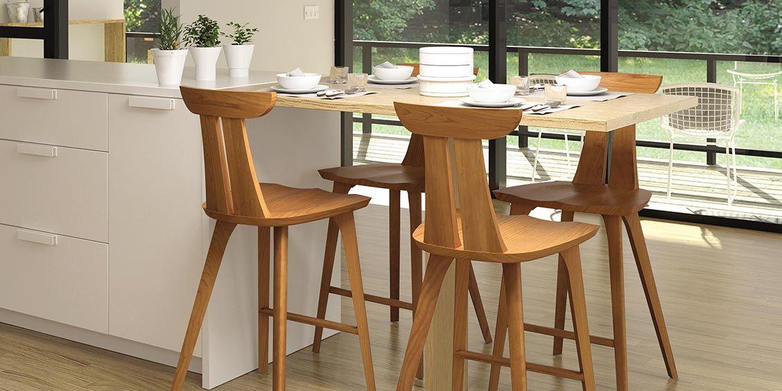 American Made Solid Wood Bar Stools in Cherry Maple u0026 Walnut Estelle counter height stool & American Made Solid Wood Bar Stools in Cherry Maple u0026 Walnut ... islam-shia.org