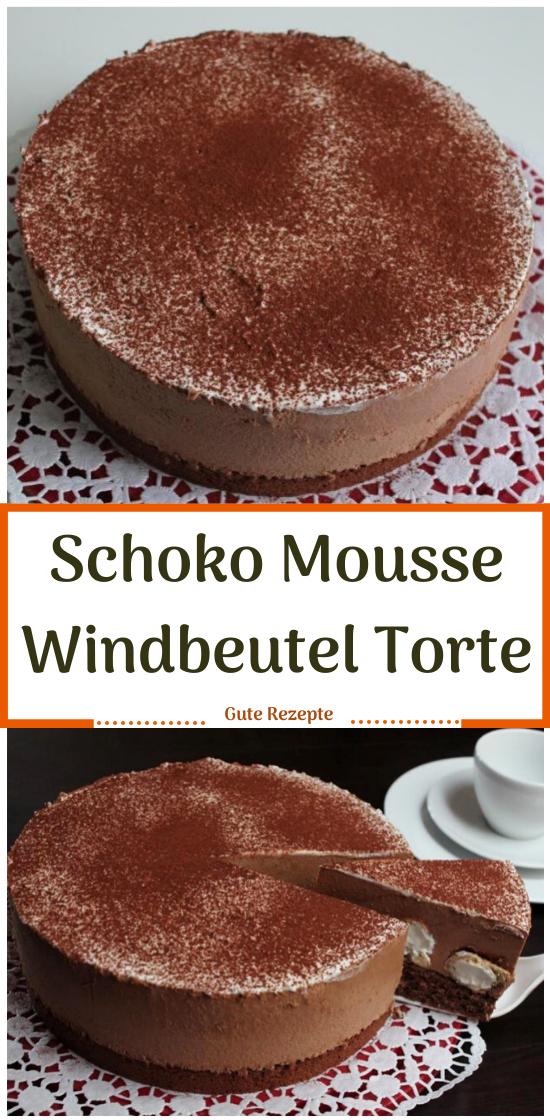 Schoko Mousse Windbeutel Torte