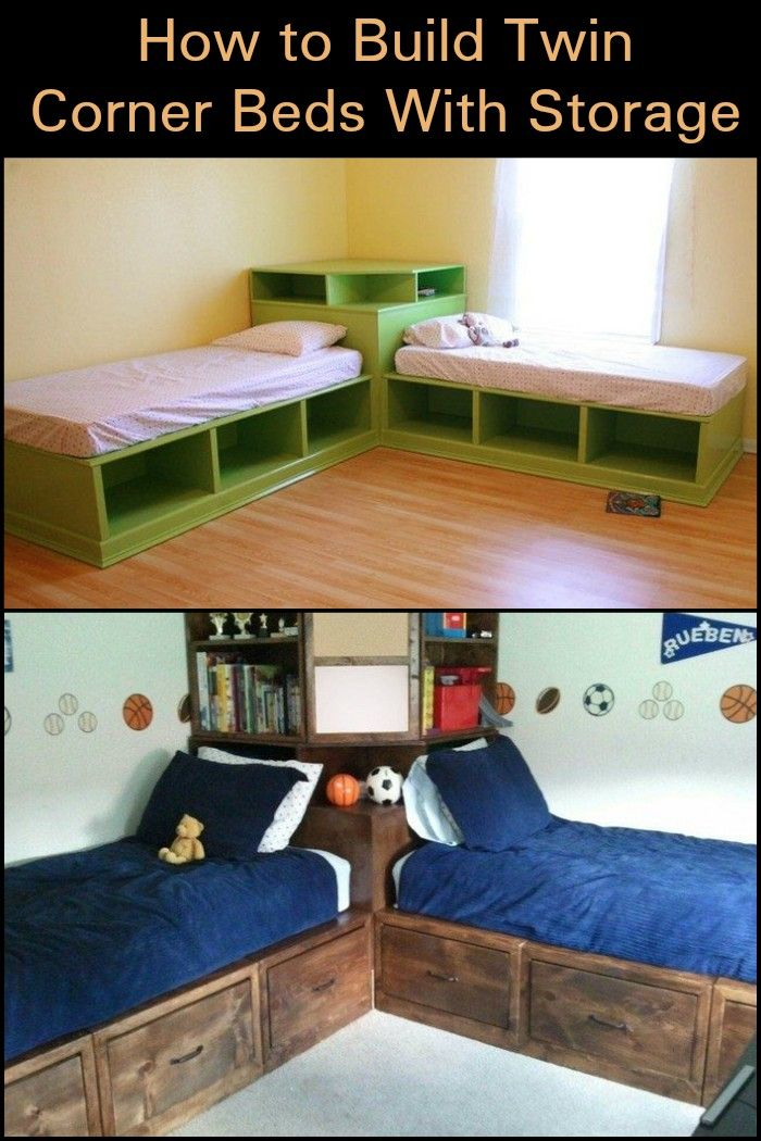Build This Twin Corner Bed For The Kids Twin Boys Room Corner