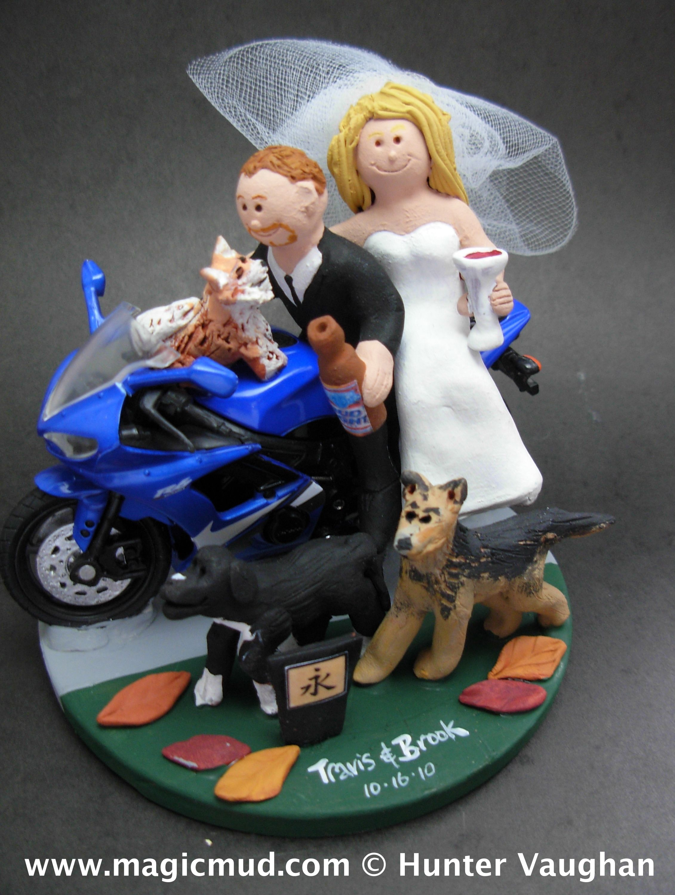 motorcycle wedding cake toppers sportbike motorcycle wedding cake topper http www 17615