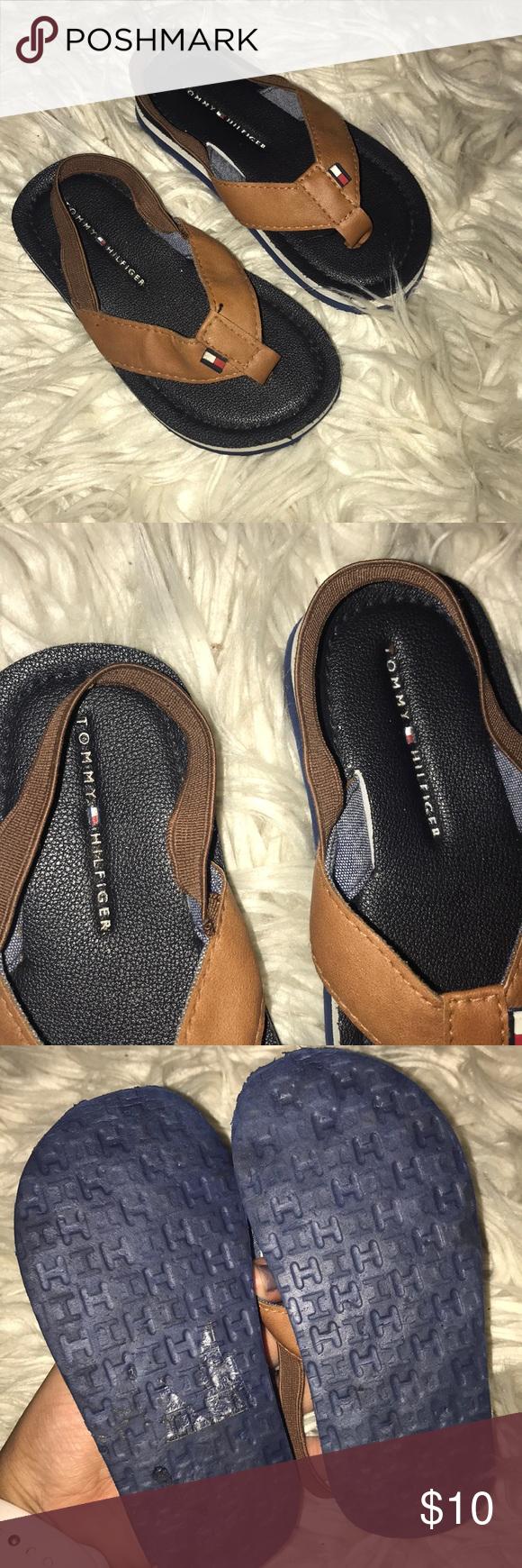 2ea899d24607 TOMMY HILFIGER TODDLER BOY SANDAL EUC Boys 7 8 Tommy Hilfiger Shoes Sandals    Flip Flops