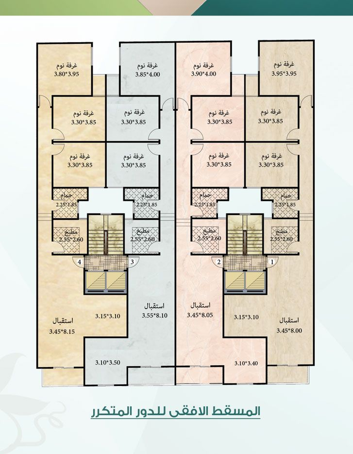 نموذج 1 مساحه 123 متر نموذج 2 مساحه 125 متر Diagram Floor Plans 10 Things