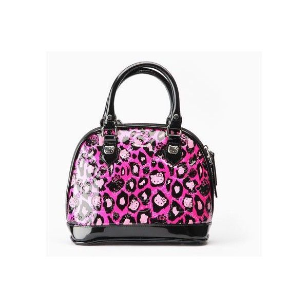 6bb0ab05be Hello Kitty Embossed Mini Handbag Pink Leopard ( 75) ❤ liked on Polyvore  featuring bags