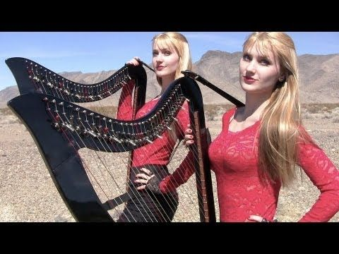 And now for todays bizarre trip to youtube..Highway to Hell - AC/DC (Electric Harp Duet) Camille and Kennerly, Harp Twins