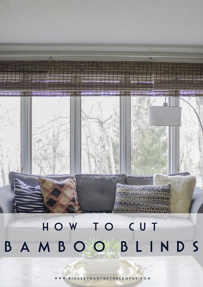 How To Cut Bamboo Blinds Diy Home Decor Bamboo Blinds Blinds