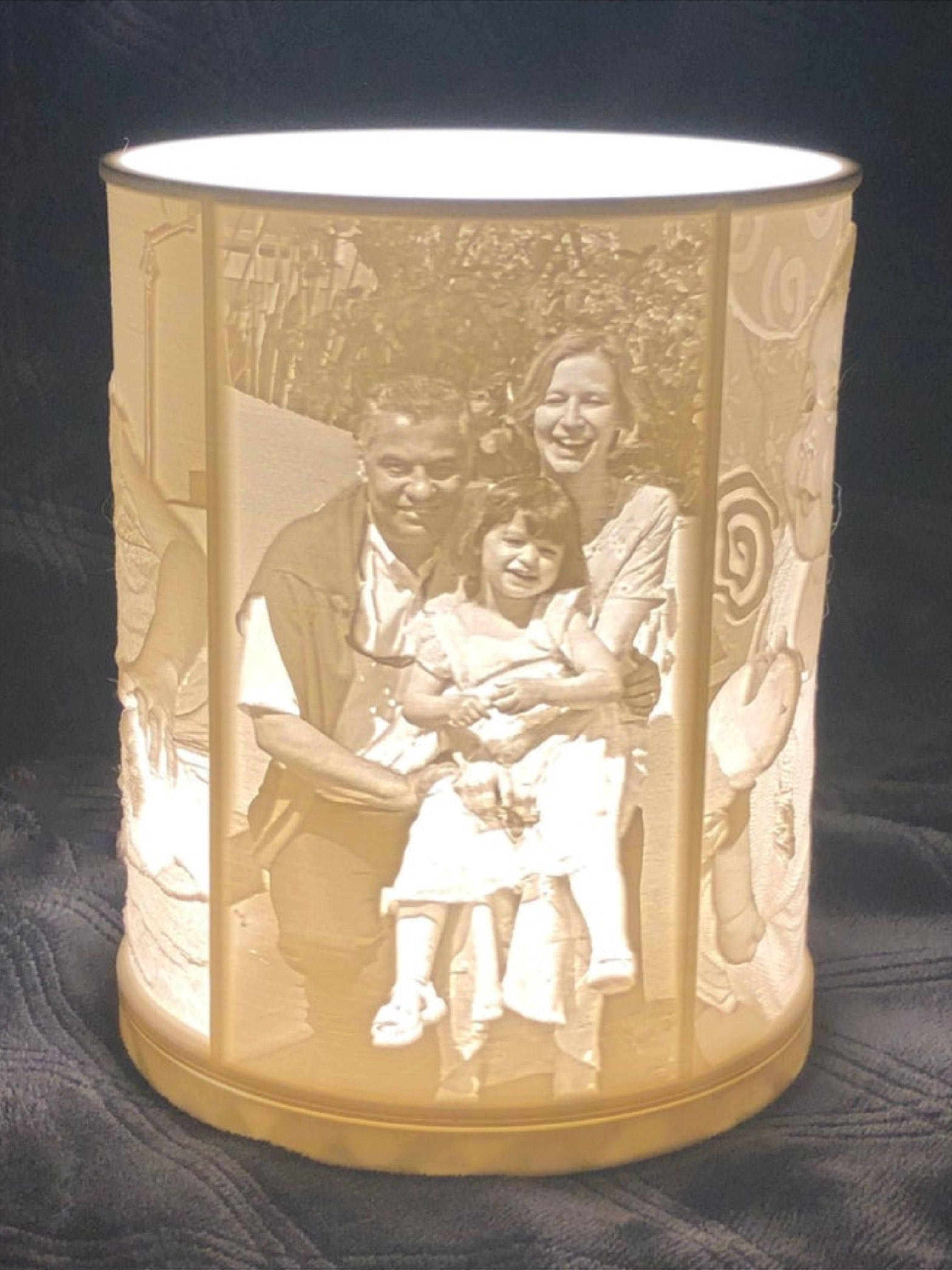 Rotatable Custom Photo Lamp 3d Printed Lithophane Lamp Personalized Photo Gift For Anniversary Birthday Graduation Wedding In 2020 Photo Lamp Personalized Photo Gifts Custom Photo