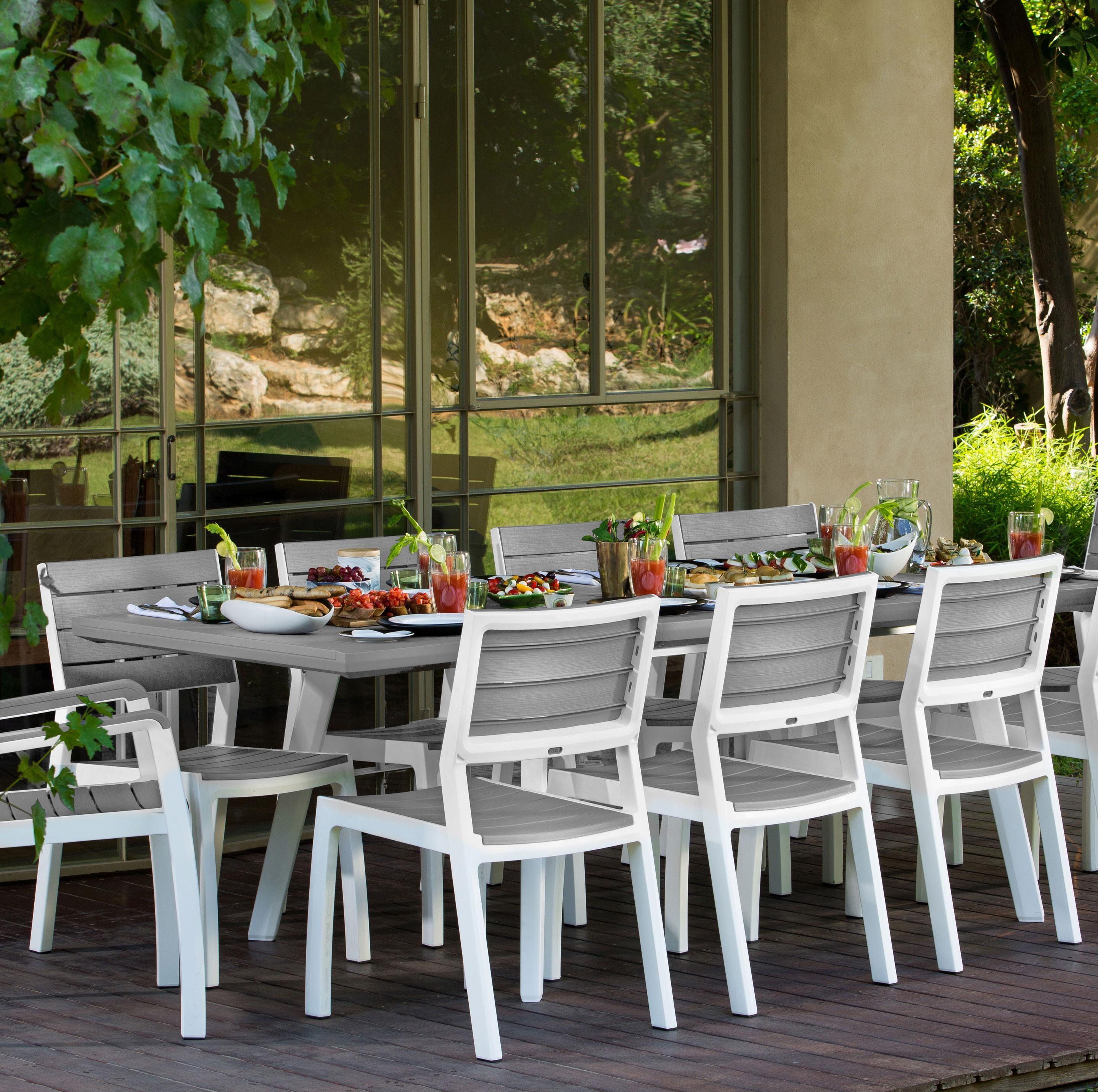 Table De Jardin De Repas Harmony Rectangulaire Gris Personnes Table De Jardin Jardins Table