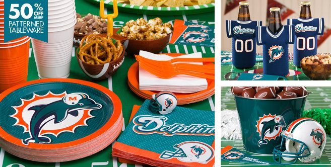 NFL Miami Dolphins Party Supplies - Party City | Party Ideas