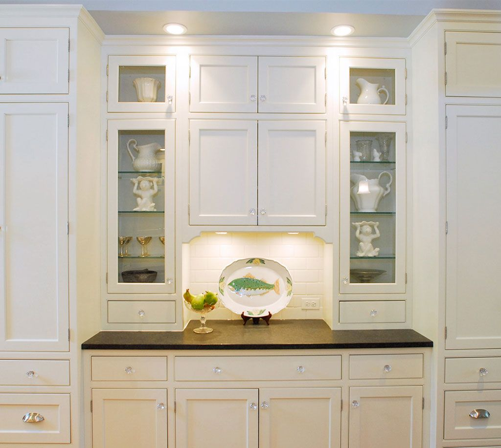White Kitchen Glass Doors For Cabinets More Useful
