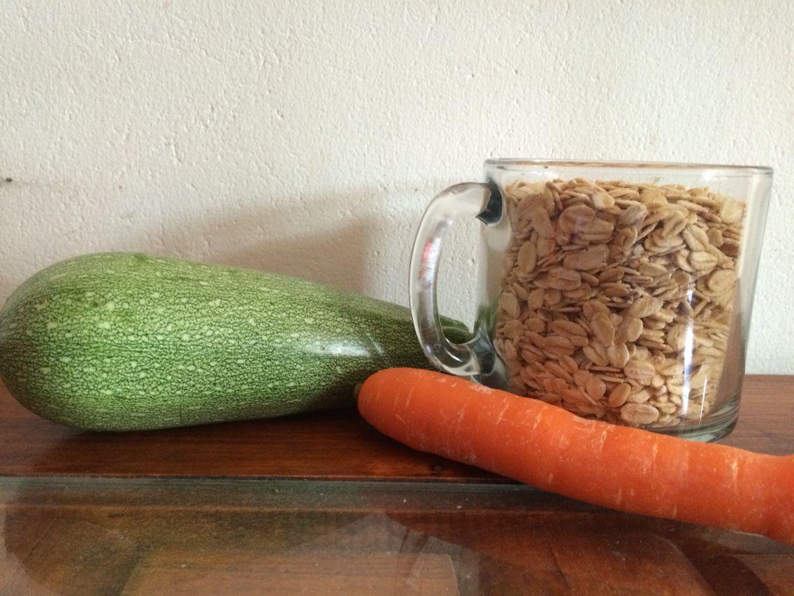 Hamburguesas de avena con cabecitas y zanahoria