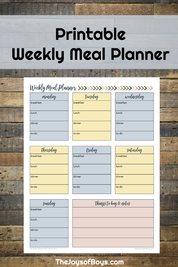 Weekly Meal Planner Printable For Busy Families Weekly Meal Planner Printable Meal Planner Printable Meal Planner Printable Free