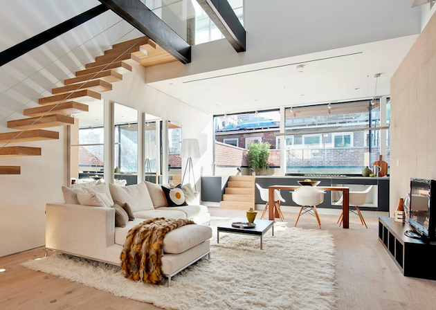 4.5M TriBeCa New York Condo 1 Staircase design, Interior