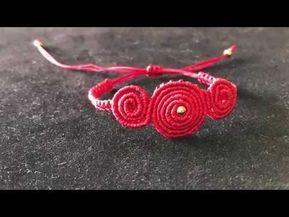 (20) Macrame Tutorial: how to make macrame bracelet/red bracelet/step by step tutorial - YouTube