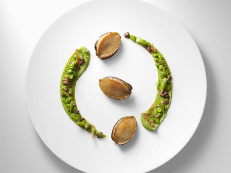 Christopher Hache chef de restaurant hotel Ambassador Paris France 1 * etoile michelin / Ormeuille et petit pois