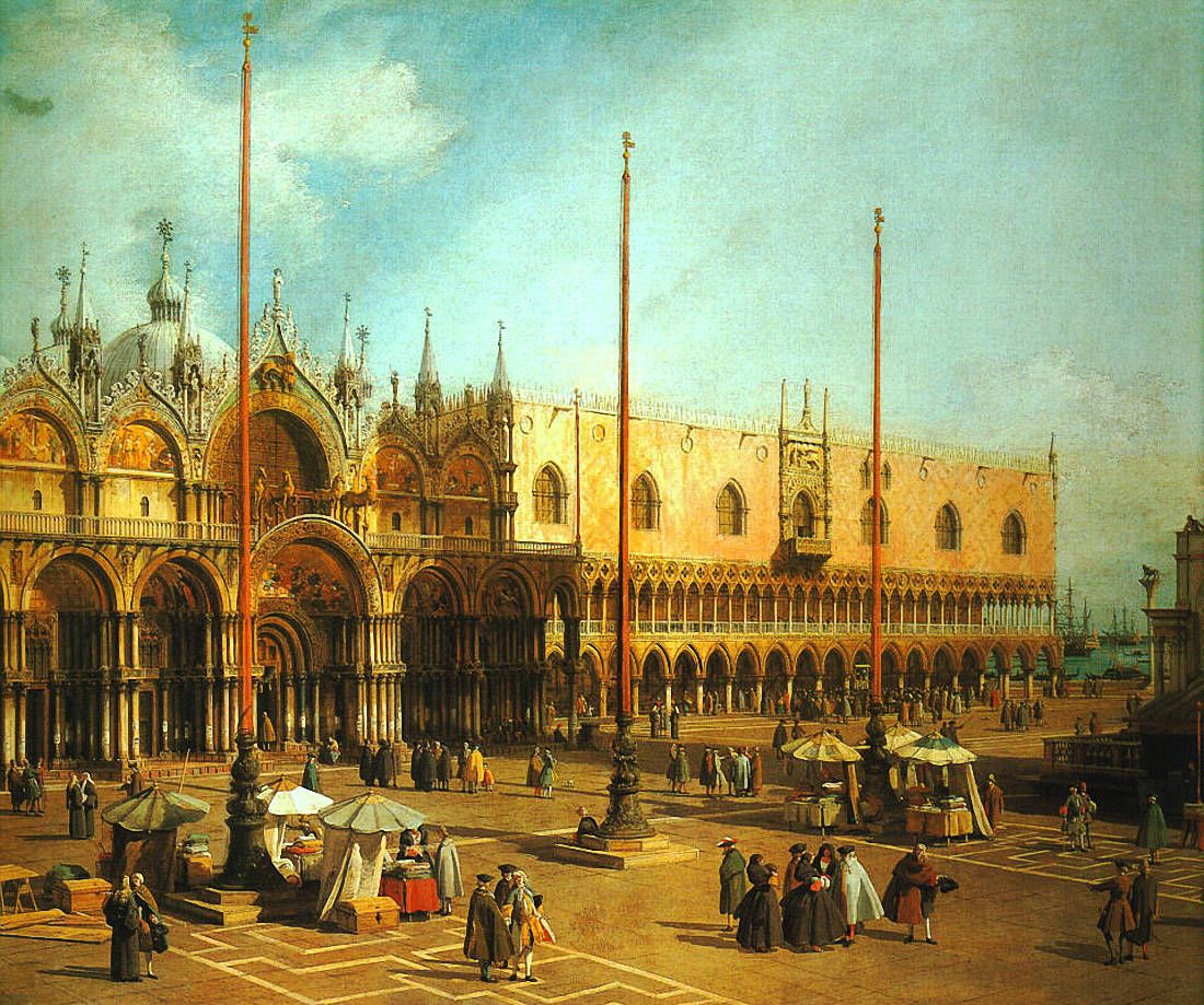 Canaletto Piazza San Marco- Looking Southeast, 1735-40, Nati.