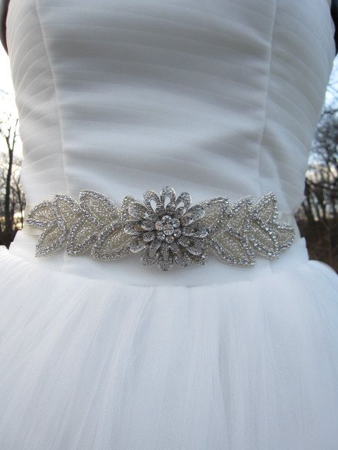 Bridal belt sash ribbon, rhinestone bridal sashes,rhinestone wedding ...