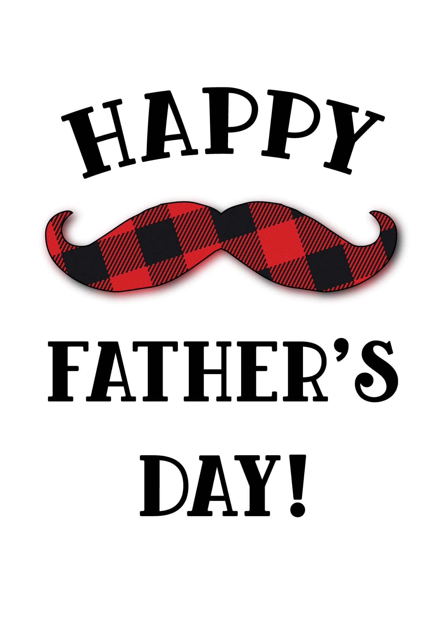 Printable Happy Fathers Day Card 01