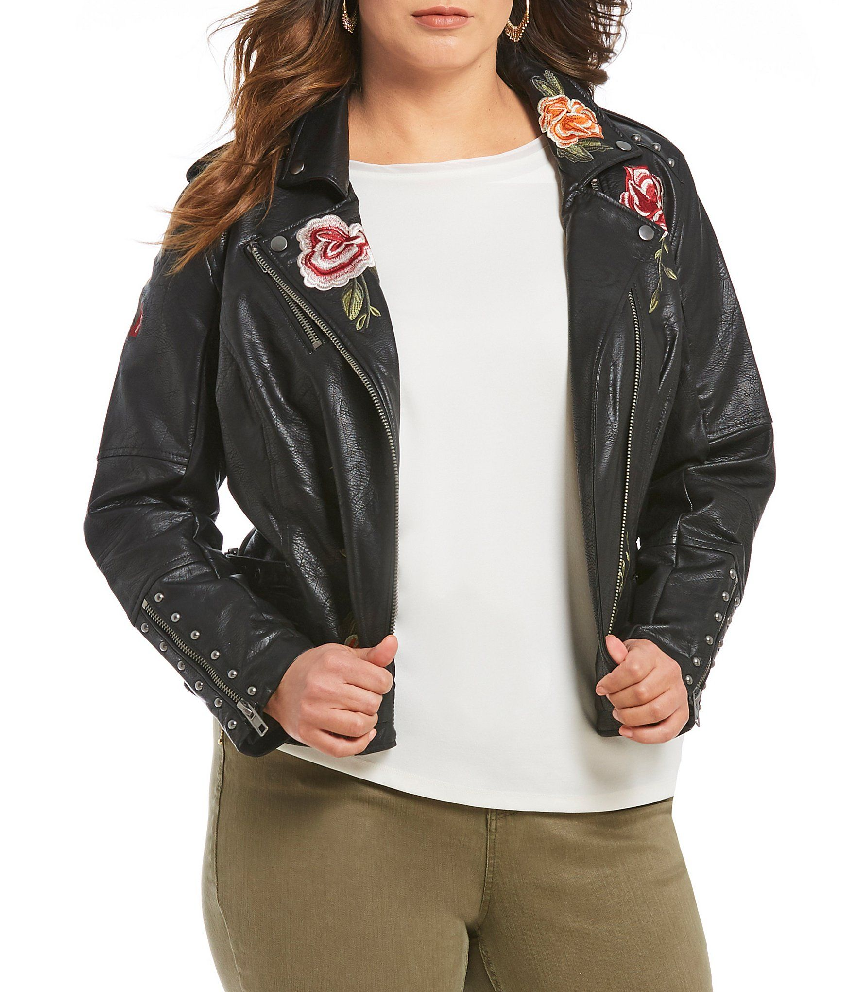 e20482c521 Shop for Gibson   Latimer Plus Leather Embroidered Jacket at Dillards.com.  Visit Dillards.com to find clothing