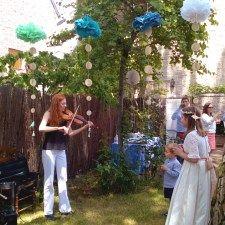 Violinista de la comunión de María