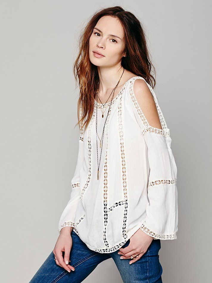 66fcc43f829 Free People FP ONE Open Shoulder Top, $168.00 | New Arrivals ...