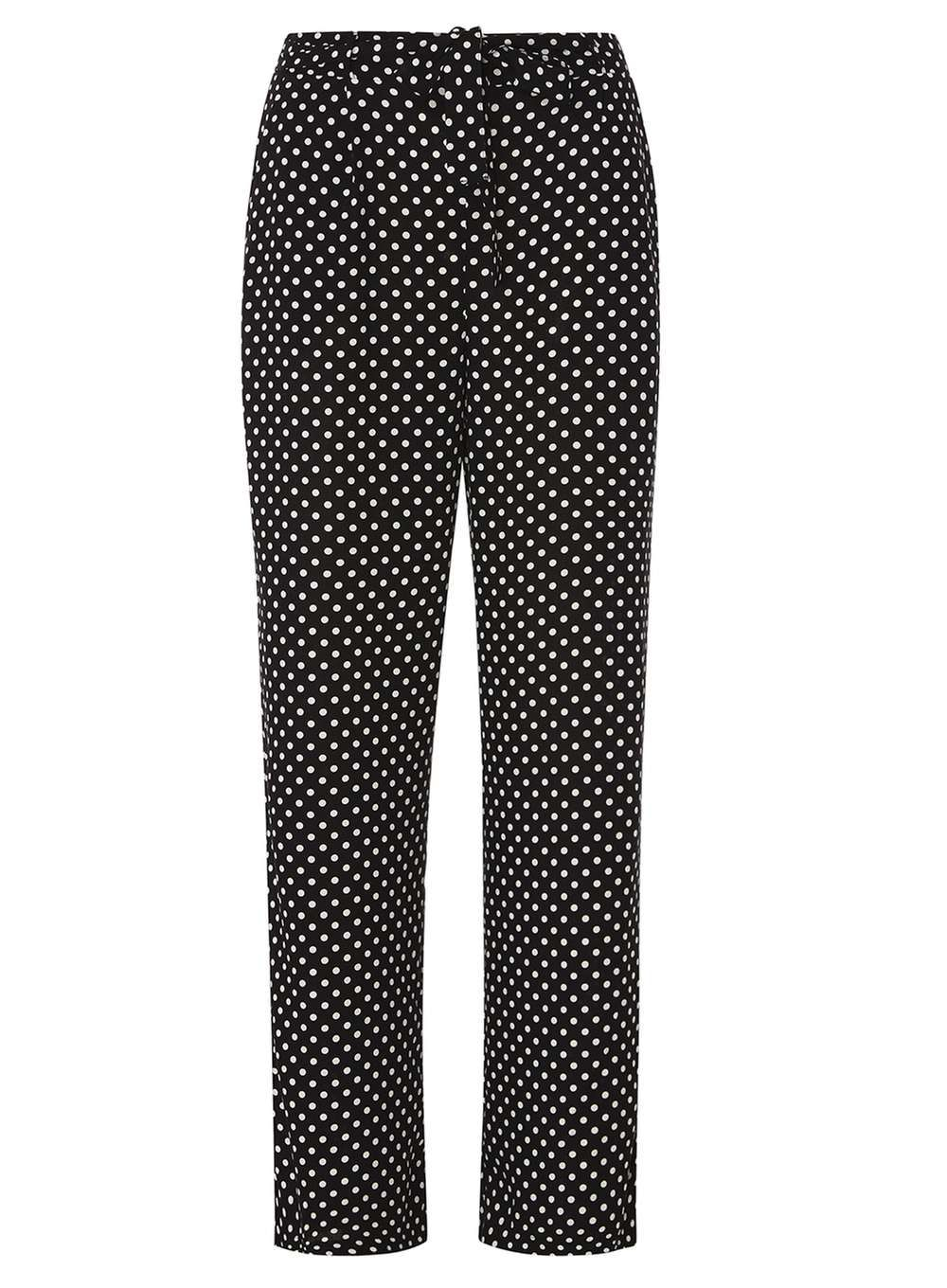 Black Spot Palazzo Tie Trousers  #summertrousers #polkatrousers