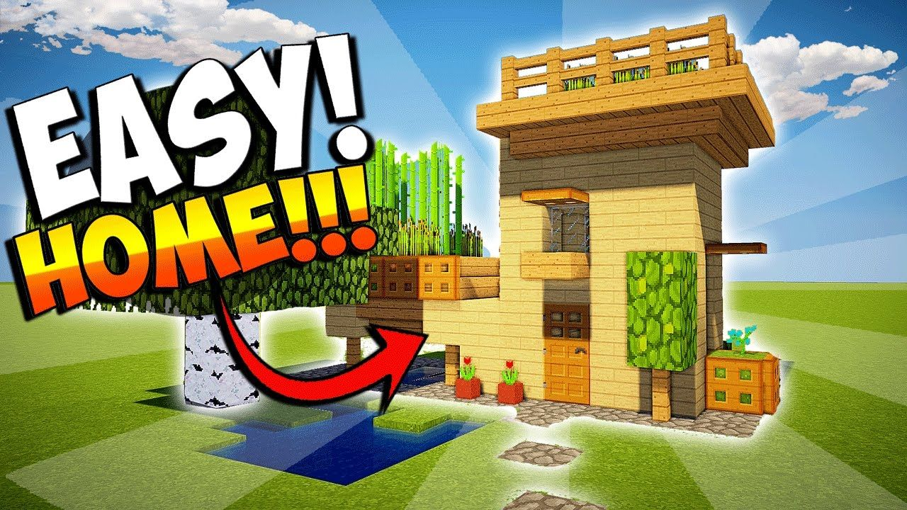 MINECRAFT HOW TO MAKE A SMALL HOUSE WITH FARM EASY