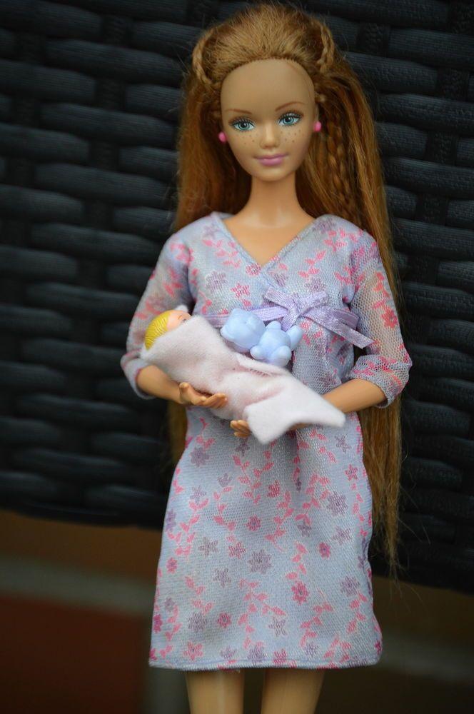 Barbie Happy In Baby Schwanger Kind Family Magnetbauch Midge cKTlFJ1