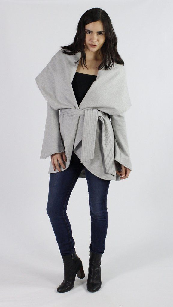 G.E.T. Tie-Waist Shawl Collar Coat