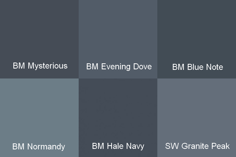 Hale Navy Benjamin Moore Cabinets Mysterious Evening Dove Blue Note Normandy And