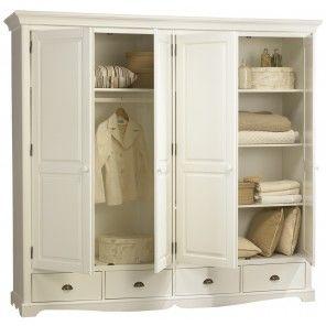grande armoire penderie pin miel de style anglais beaux meubles pas chers