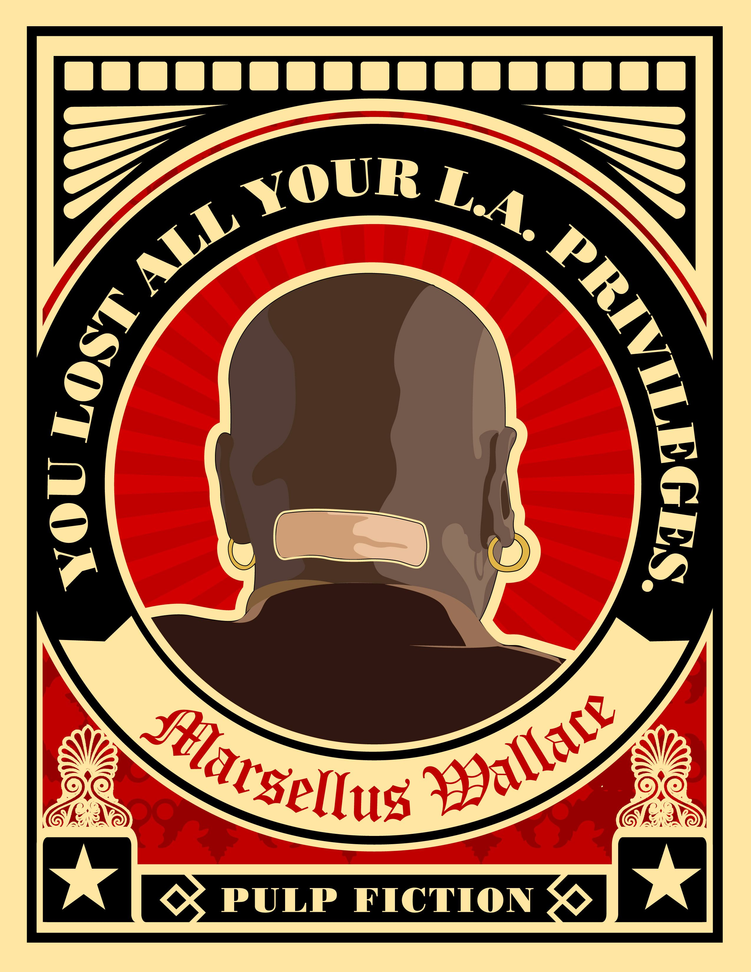 Marsellus wallace vector work pulp fiction quotes