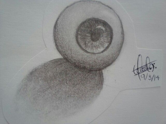 #Dibujo a  lápiz / pencil #Draw « Eye ball »