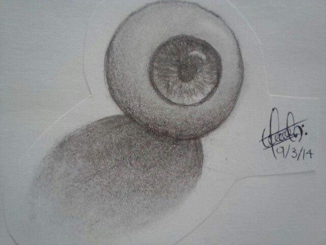 #Dibujo a  lápiz / pencil #Draw « Eye ball »