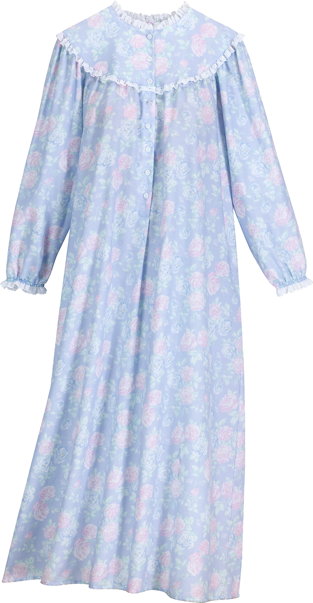 Lanz Nantucket Rose Full Length Flannel Nightgown Night