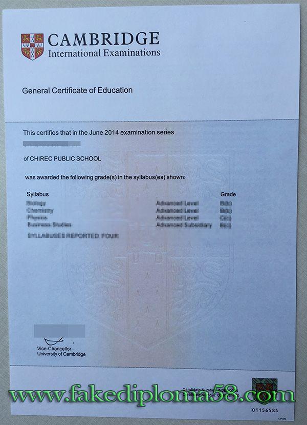 General Certificate Of Education GCE Buy Fake Degree Diploma