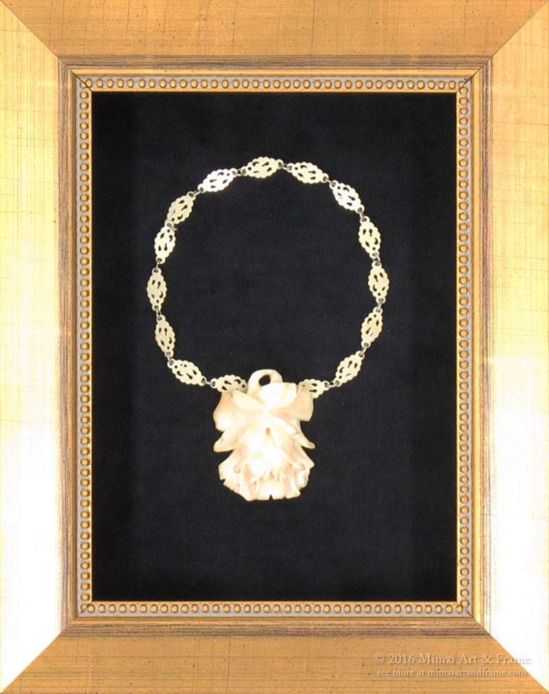 This Antique Ivory Necklace Is A Family Heirloom Framed To P Down As Very