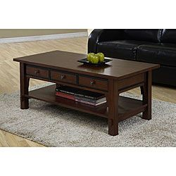 Talisman 3 Drawer Coffee Table Style Meets Functionality With