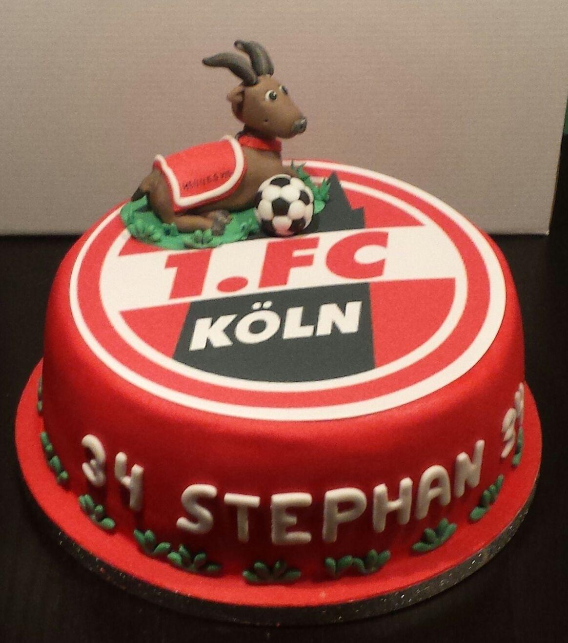 Fussballtorte 1 Fc Koln Men S Birthday Cake Fondant Torte