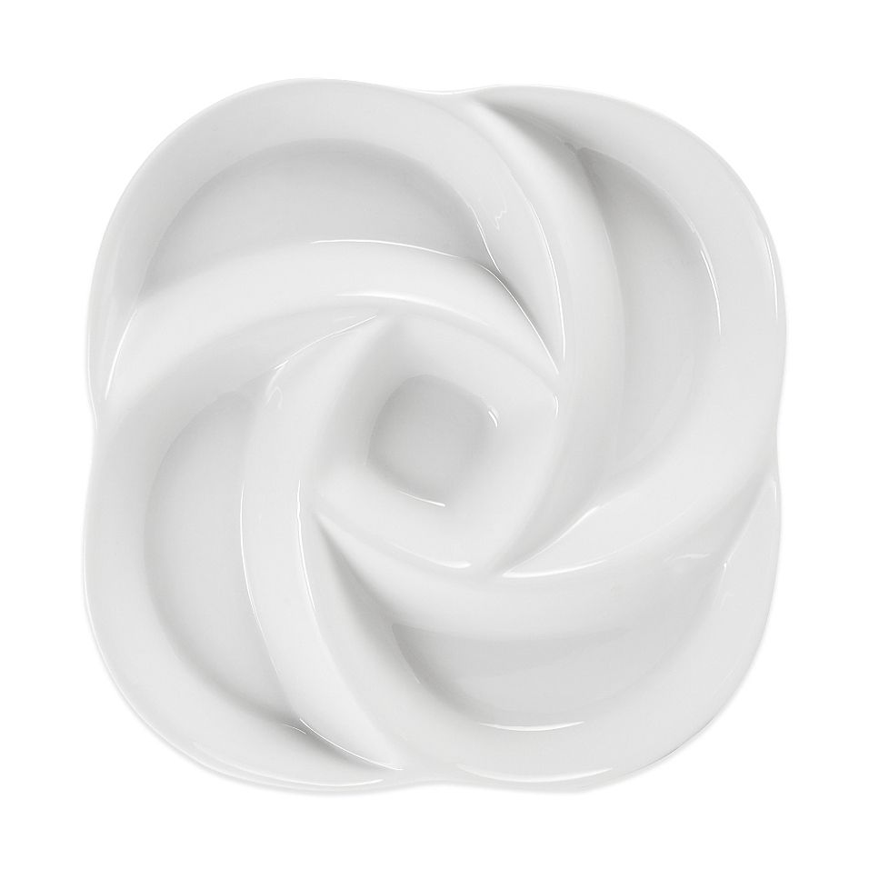 Everyday White By Fitz And Floyd Swirl Chip And Dip Chip Dip
