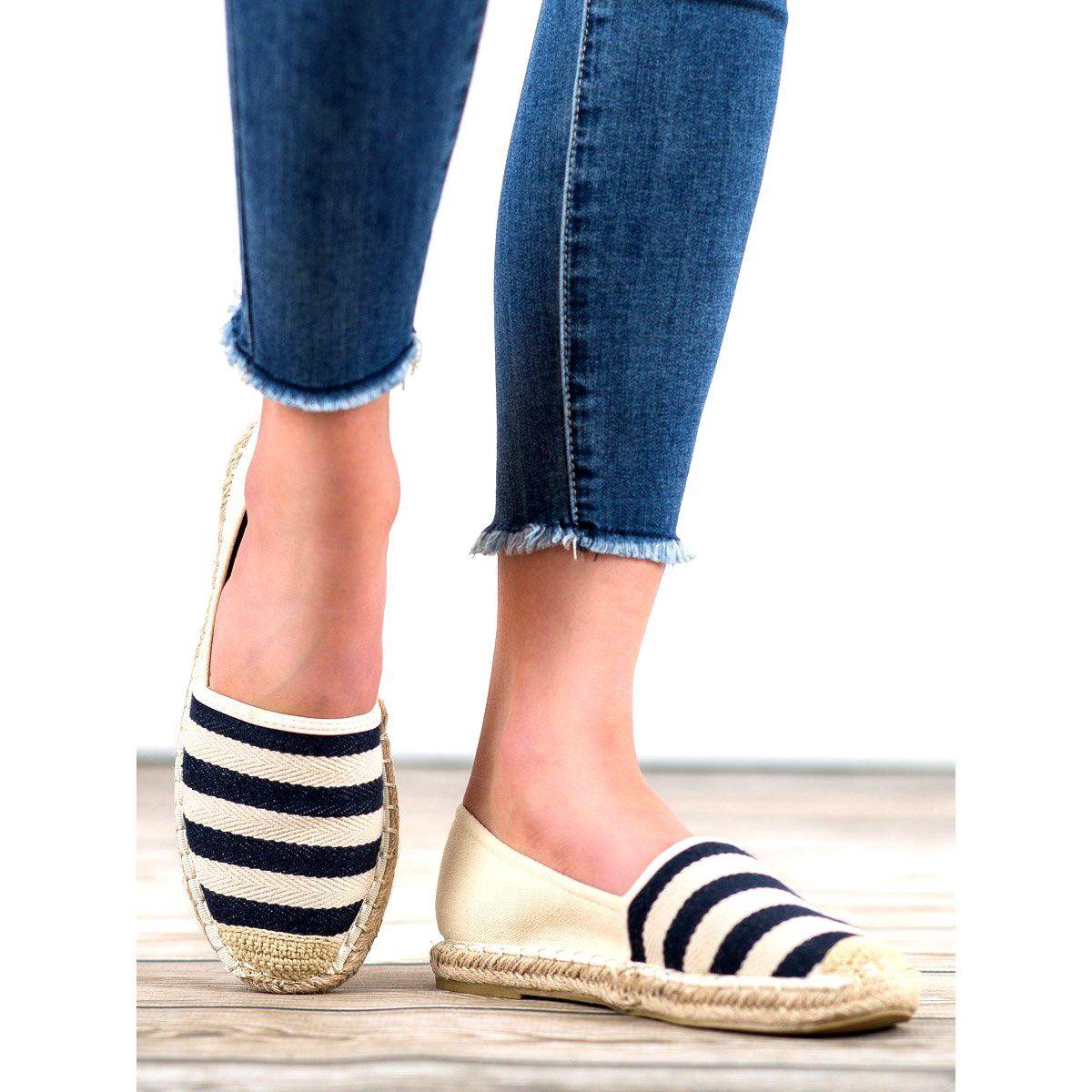Espadryle Damskie Bellamila Bellamila Brazowe Espadryle W Paski Espadrilles Shoes Fashion