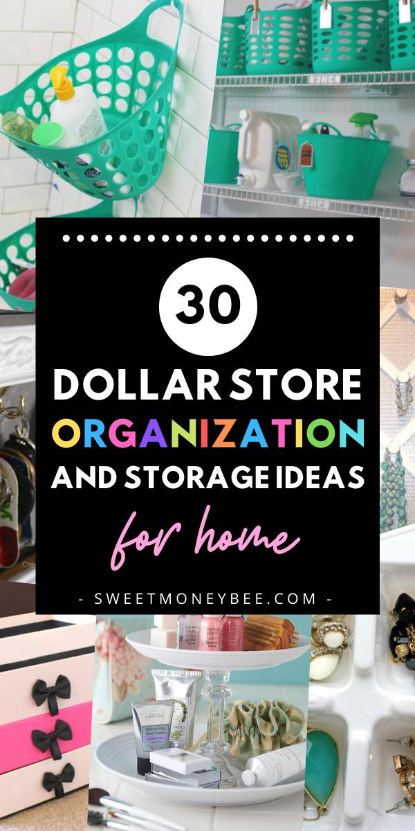 30 Dollar Store Organization And Storage Ideas For Home Dollar Store Organizing Dollar Stores Store Organization