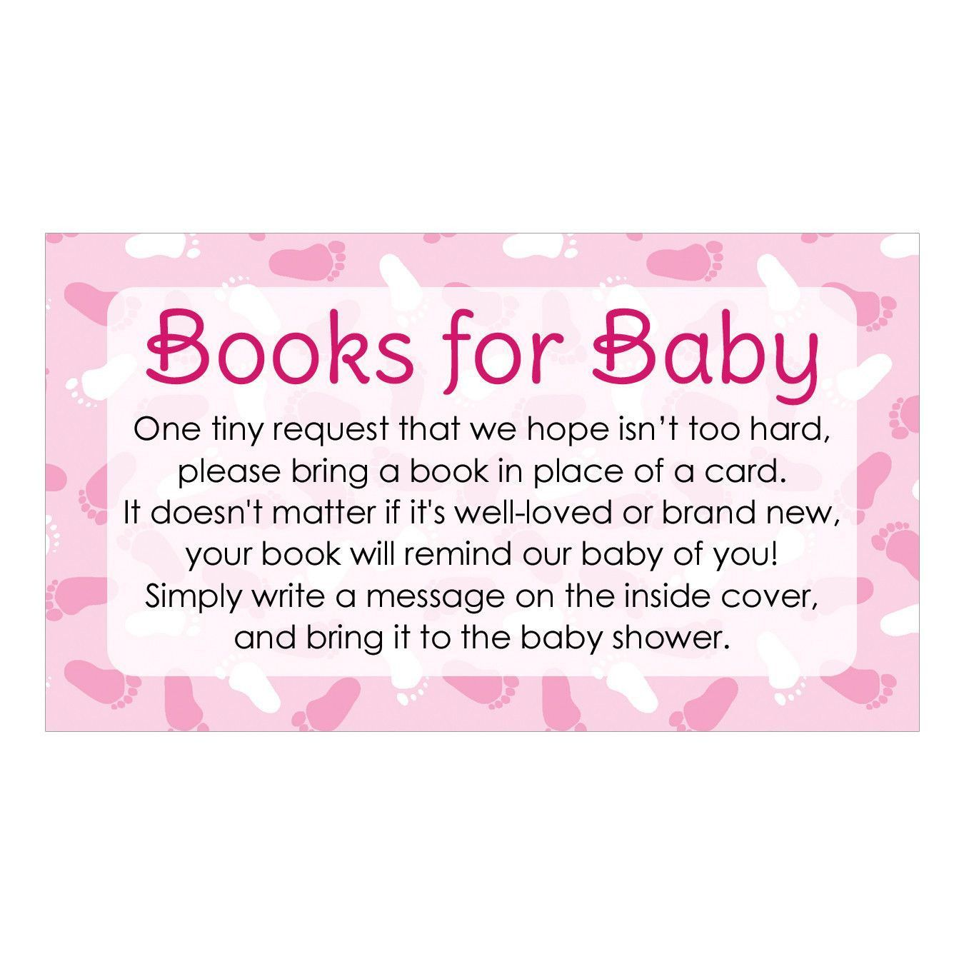 Lovely Girl Baby Shower   Books For Baby Request Cards (Set Of 20)