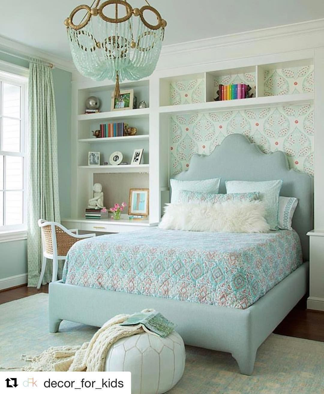 scalloped upholstered headboard in built in niche ro sham beaux
