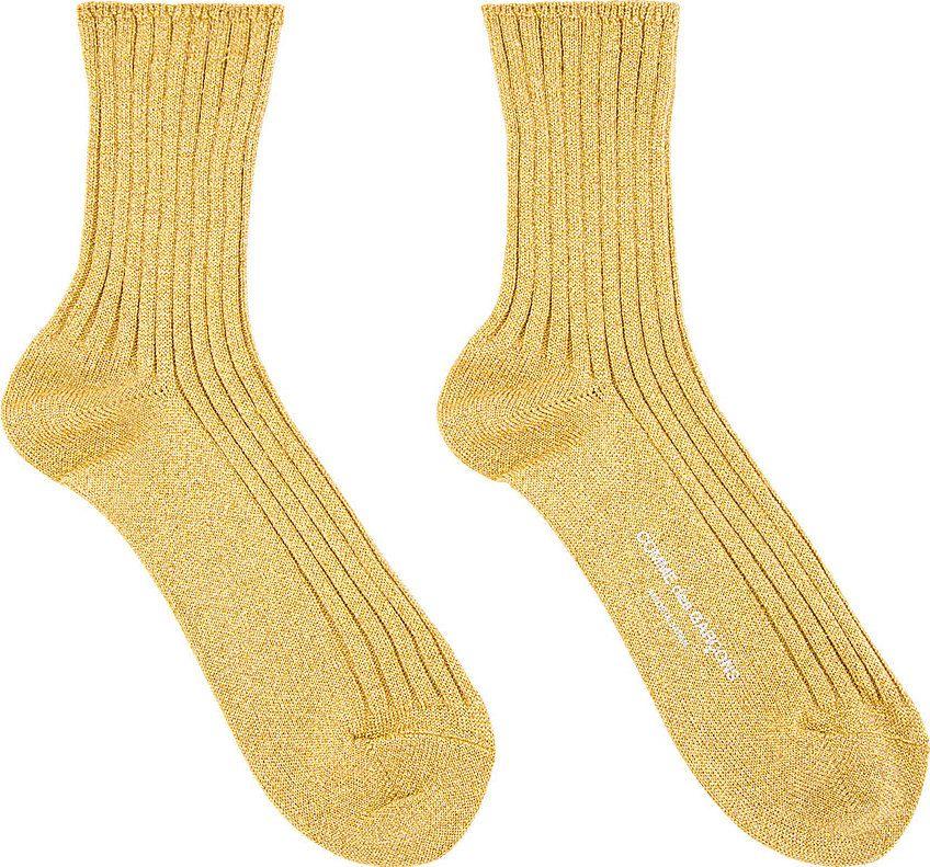 golden lame' short socks #tonal stitching #comme des garcons