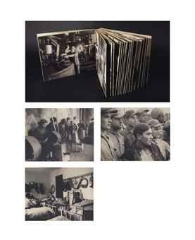 MOÏ VER (Mosche Raviv-Vorobeichic) (1904-1995) Sans titre (Kibbutz en Europe de l'Est), 1937 Album de 51 tirages argentiques montés chacun l...