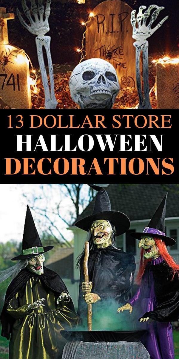 13 Diy Halloween Decorations Ideas Fall Halloween Decoratio Halloween Decorations Diy Outdoor Dollar Store Halloween Decorations Halloween Outdoor Decorations