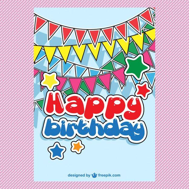 Happy Birthday Card Template \/ Tarjetas de Cumpleaños Cositas de - happy birthday cards templates